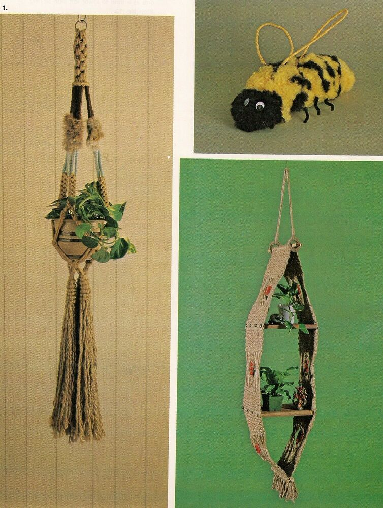 macrame plant hanger pattern books hanging shelf plant hanger pattern craft book mm177 8563