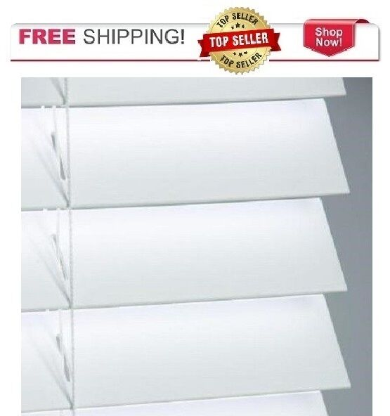 White 2 Quot In Faux Wood Blind You Pick The Width X 48 Quot L