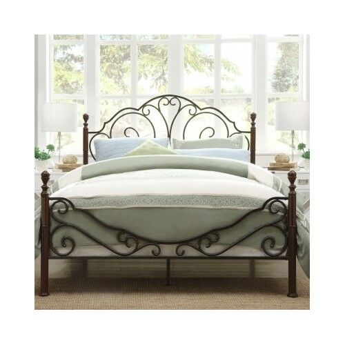 queen bed antique victorian iron vintage rustic metal headboard footboard frame ebay