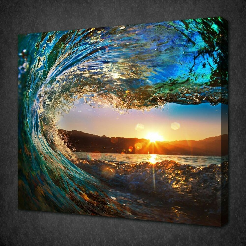 Not framed canvas print large canvas art cheap sea vie for Cheap prints and posters