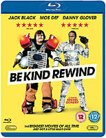 "BLU-RAY ""Be Kind Rewind"" Jack Black Danny Glover Mos Def"
