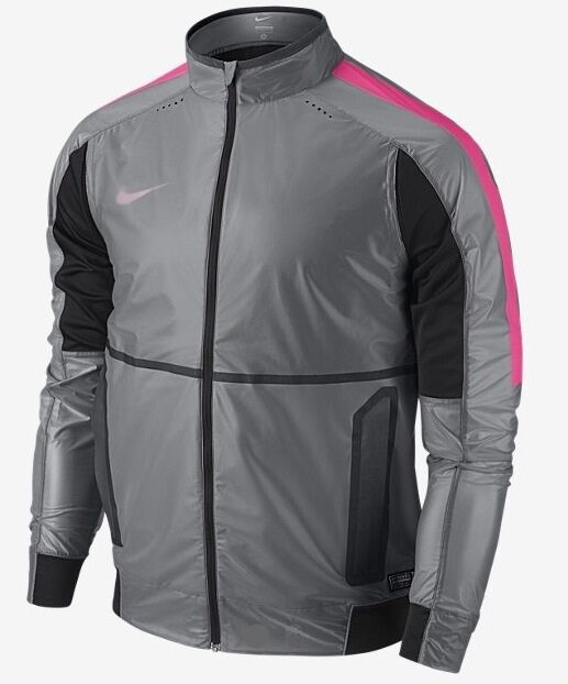 276bd67dc4a9 NIKE REVOLUTION ELITE MEN S SOCCER JACKET DARK GREY PINK 677193 021 (LARGE)  888408042125