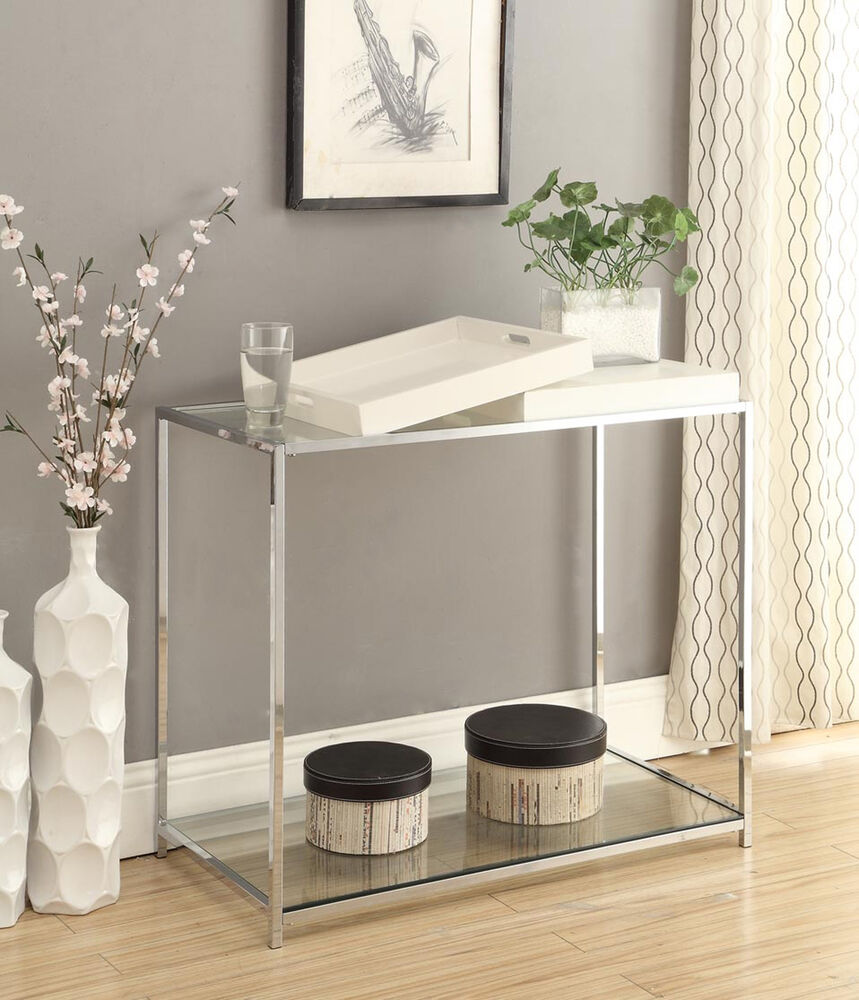 Convenience concepts palm beach console table white for Table 52 west palm beach