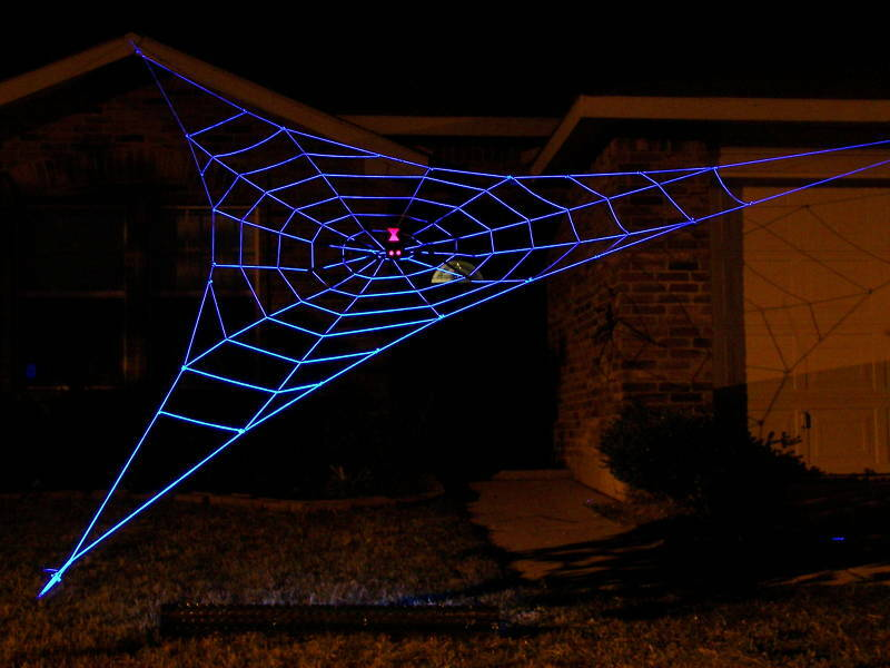 25 GIANT GlowWeb Rope Spider Web Halloween House Yard Prop Decoration ...