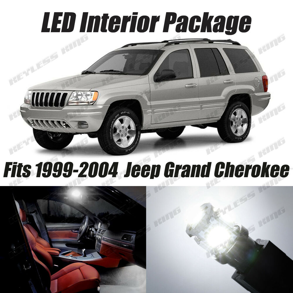 16 Pcs Led White Lights Interior Package Kit For Jeep Grand Cherokee 1999 2004 Ebay