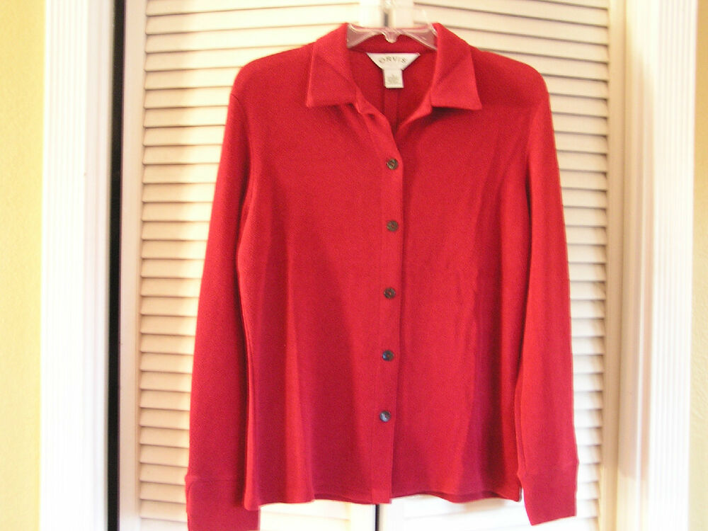 New orvis red travel no iron wrinkle free button up shirt Wrinkle free shirts for women