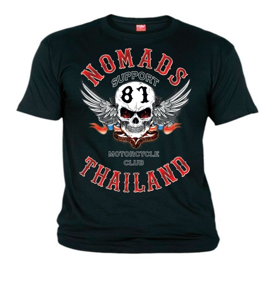 hells angels nomads thailand support81 t shirt m 8xl ebay. Black Bedroom Furniture Sets. Home Design Ideas