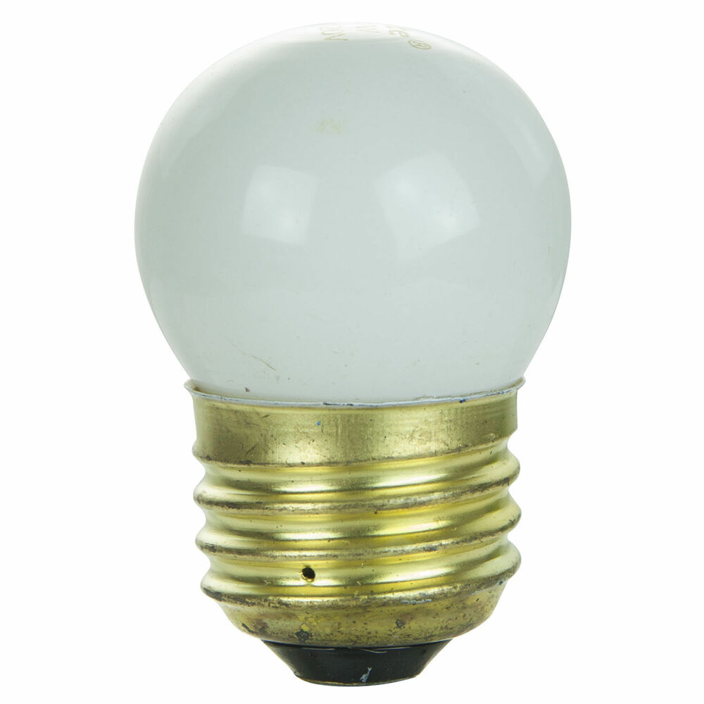 4 pack 7 5 watt s11 medium base 7 5s11 incandescent sign light bulb white ebay Light bulb lamps