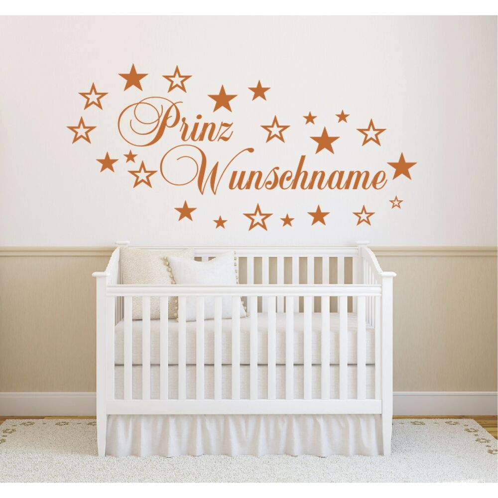 y53 kinderzimmer wandtattoo wunschname name prinz prinzessin kind kinder deko ebay. Black Bedroom Furniture Sets. Home Design Ideas