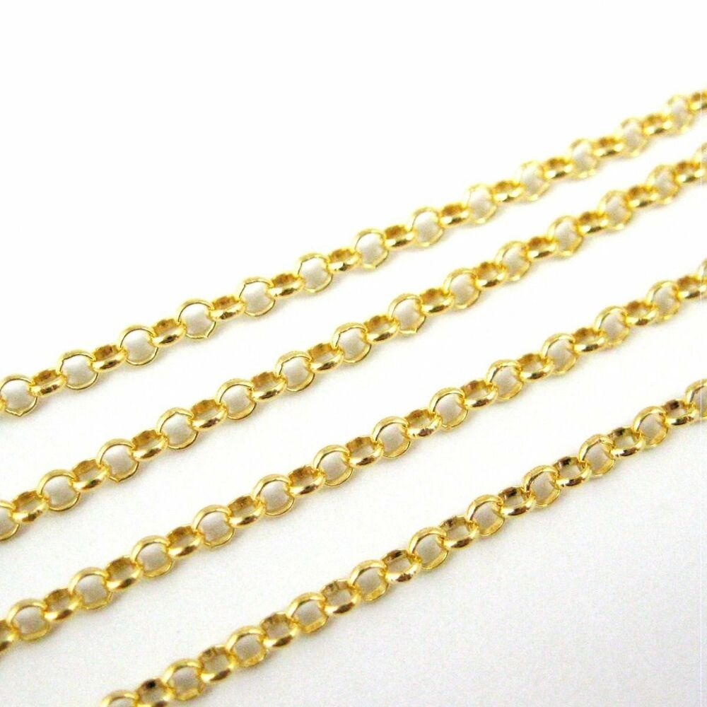 Gold Plated Sterling Silver Vermeil Chain, Bulk Wholesale ...