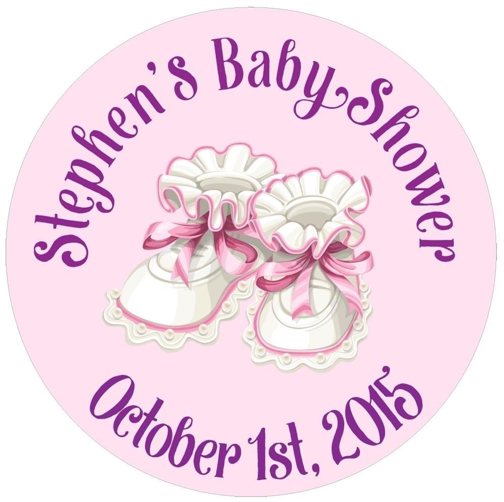 """117 0.75"""" Personalized Custom Name Baby Shower Shoes Party"""