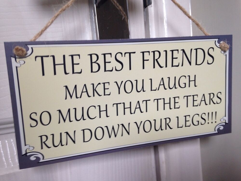 Friend Friendship Plaque Sign Funny Gift Best Friends Make
