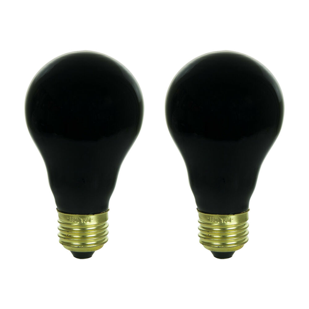 2 Black Light Bulbs Light Party Incandescent 120v 75w Lighting Effects Free Ship Ebay