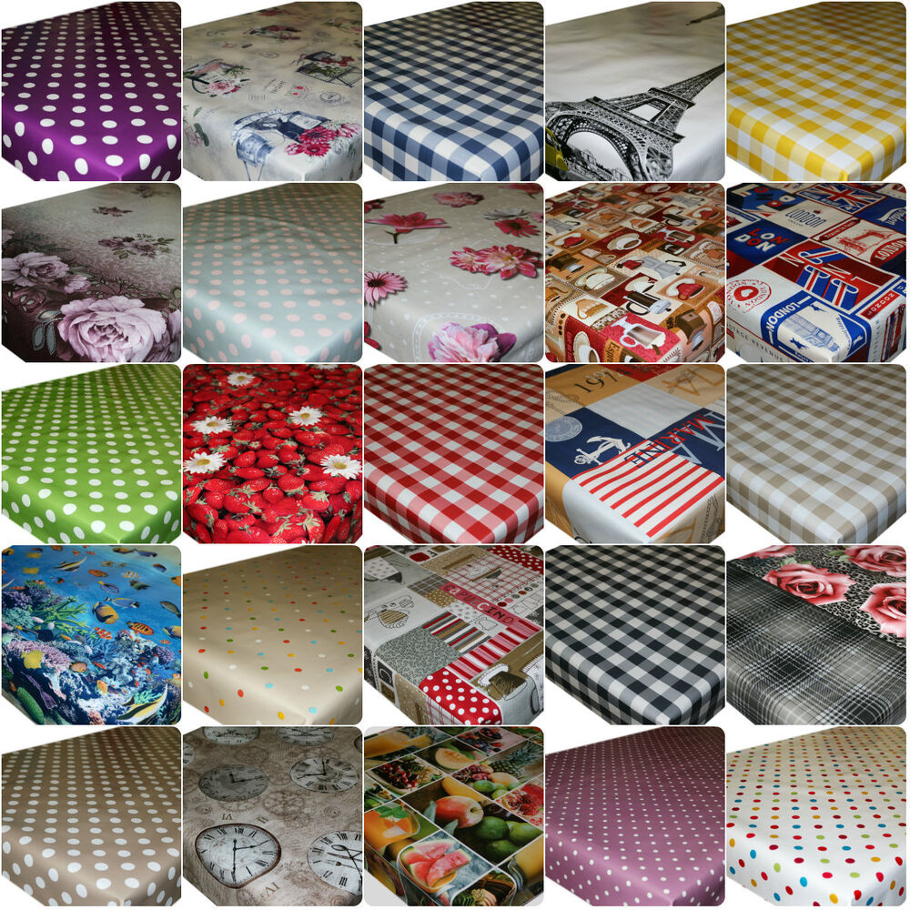 Wipe Clean Tablecloth Oilcloth Vinyl Pvc All Designs