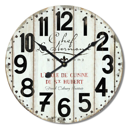 Extra Large Retro Shabby Chic Wall Clock 60cm Diameter