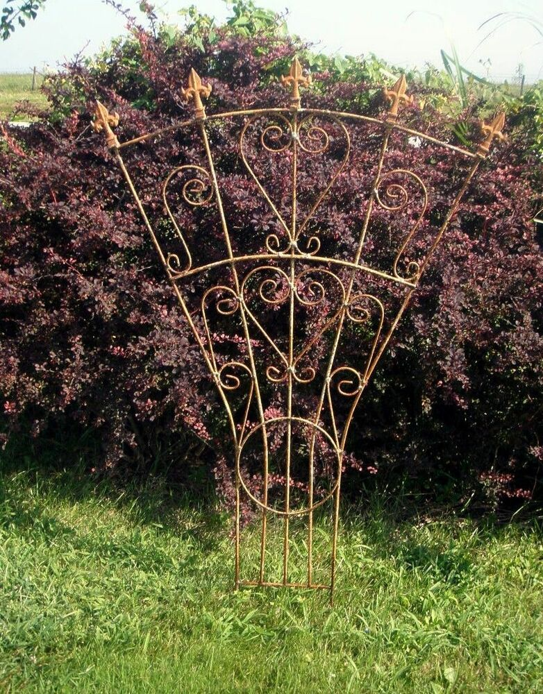 "Garden At Heart Plant Profiles Lotus Berthelotii: 61"" Iron Finial And Heart Trellis For Your Flowers And"