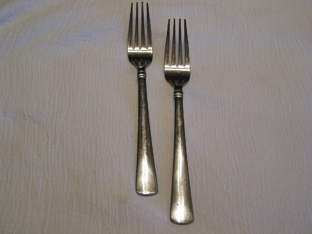 2 Cambridge 3 Band Stainless Silverware Flatware Salad