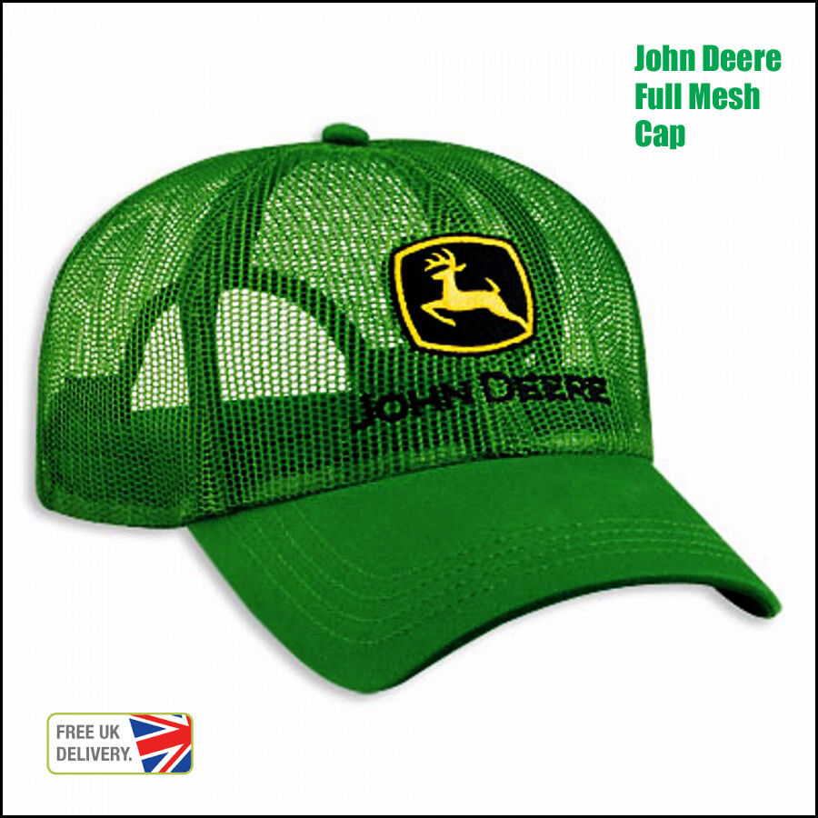 Tractor Shirts And Hats : Brand new licensed cool full mesh john deere green trucker