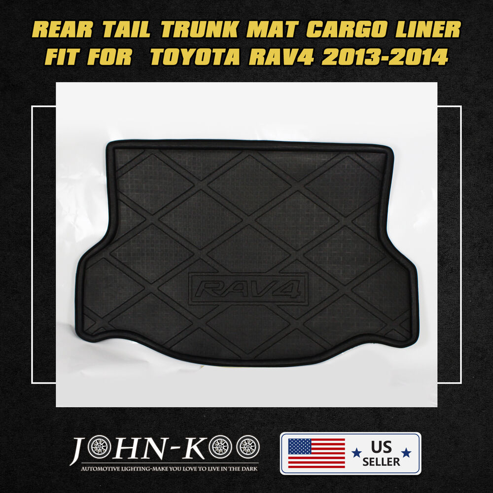 fit all weather rear trunk cargo mat tray liner for toyota. Black Bedroom Furniture Sets. Home Design Ideas