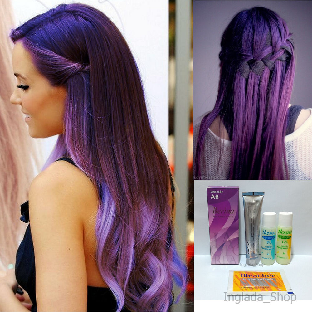 Berina A6 Hair Color Cream With Violet Color Permanant