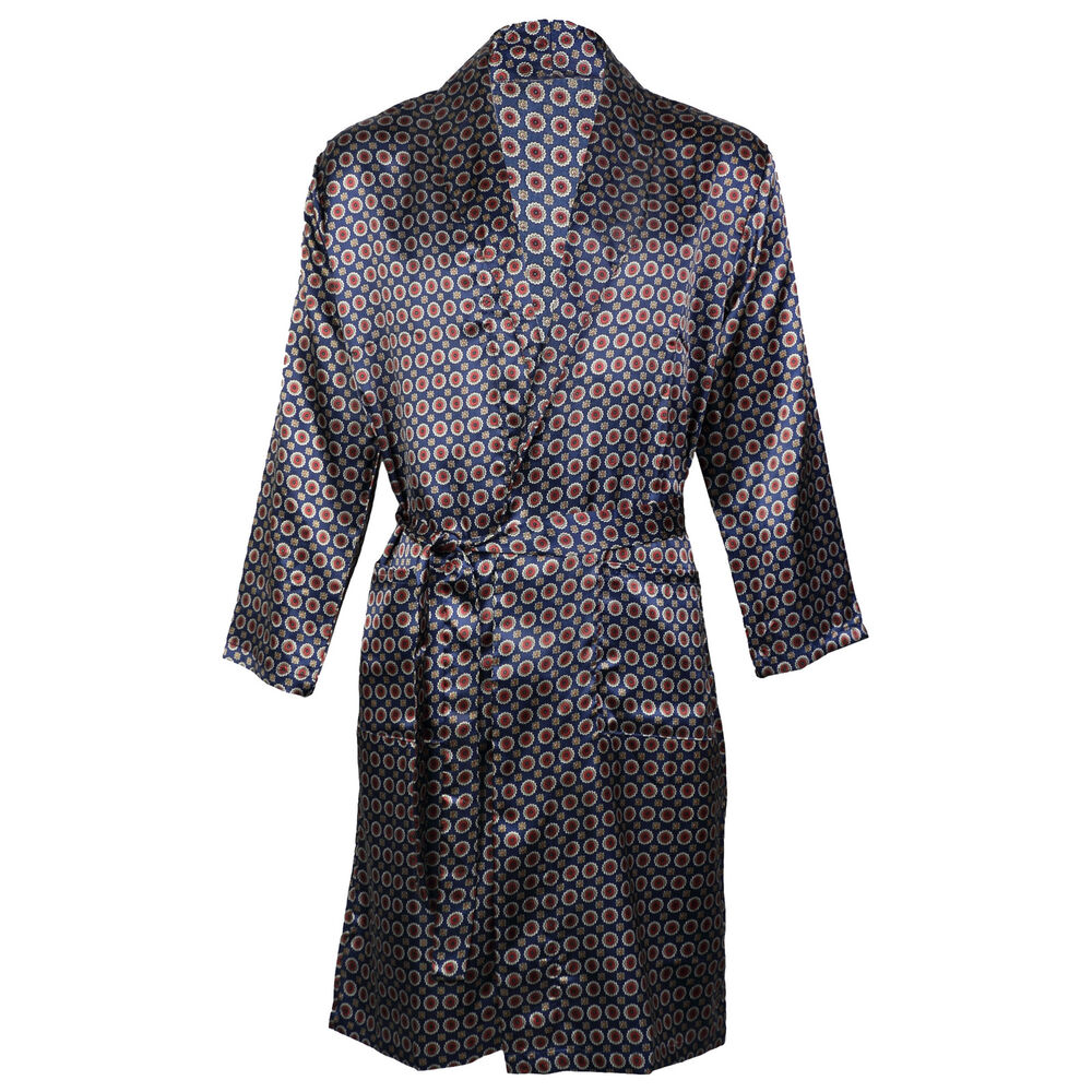 Men S Dressing Gowns: OCTAVE® Mens Luxury Summer Printed Satin Kimono Wrap Robe