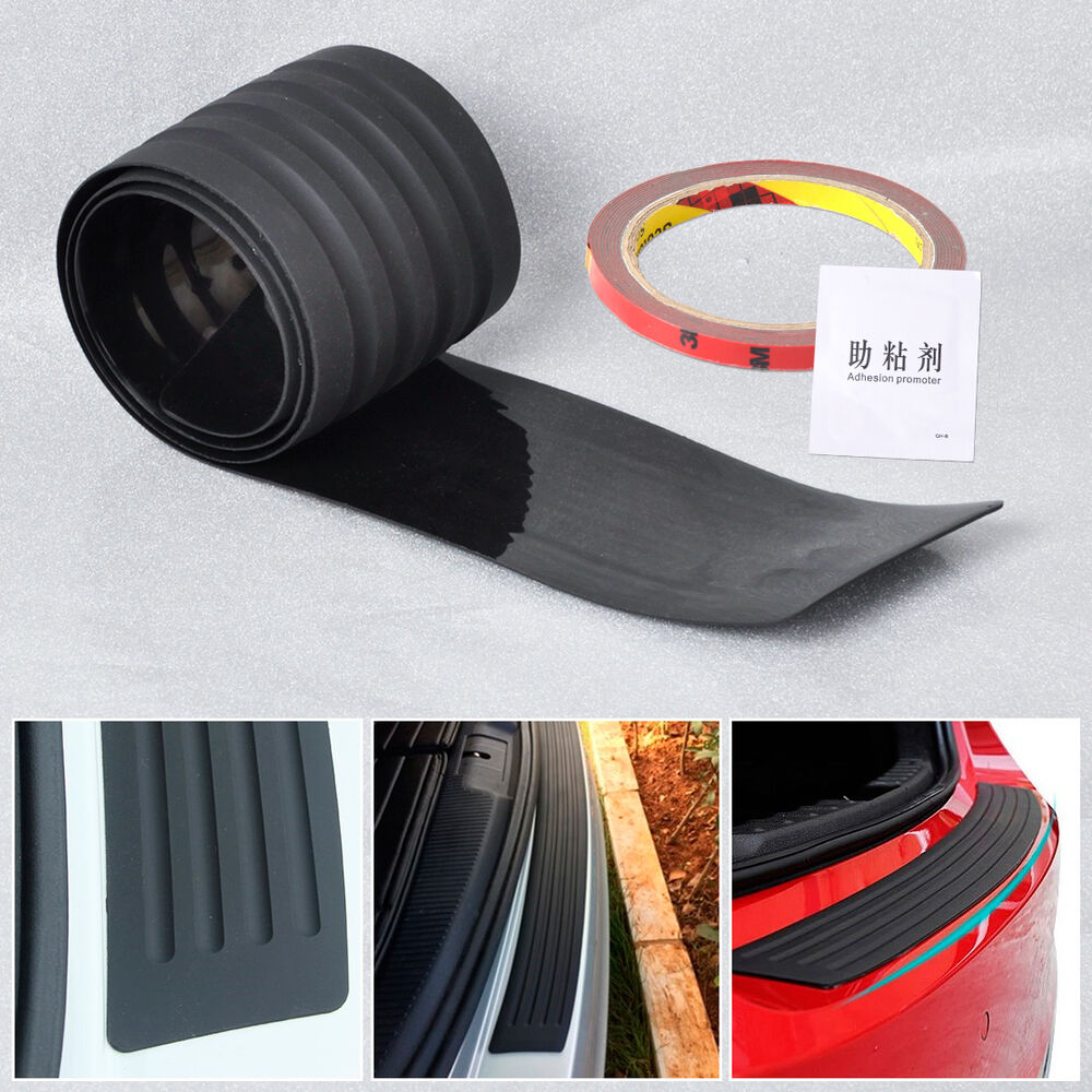 Car Bumper Guard >> Rubber Rear Guard Bumper Protector Trim Cover For VW Benz Audi BMW Buick Mazda | eBay