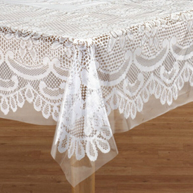 New Heavy Duty Clear Vinyl Table Cover Cloth Protector  : s l1000 from ebay.com size 768 x 768 jpeg 100kB