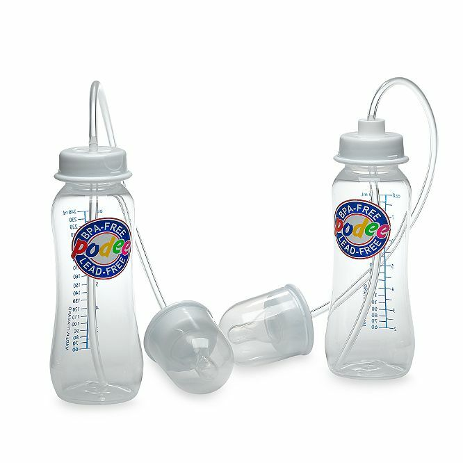 New Podee Hands Free Baby Bottle System Twin Pack 2