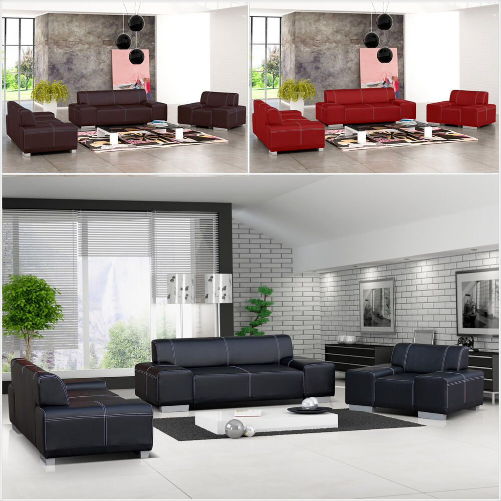 polstergarnitur roland 3 2 1 sofagarnitur couchgarnitur couch sofas sessel ebay. Black Bedroom Furniture Sets. Home Design Ideas