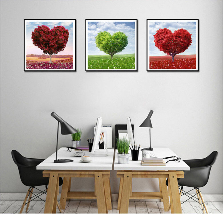 Not framed canvas print cheap home office decor wall art for Wall paintings for office