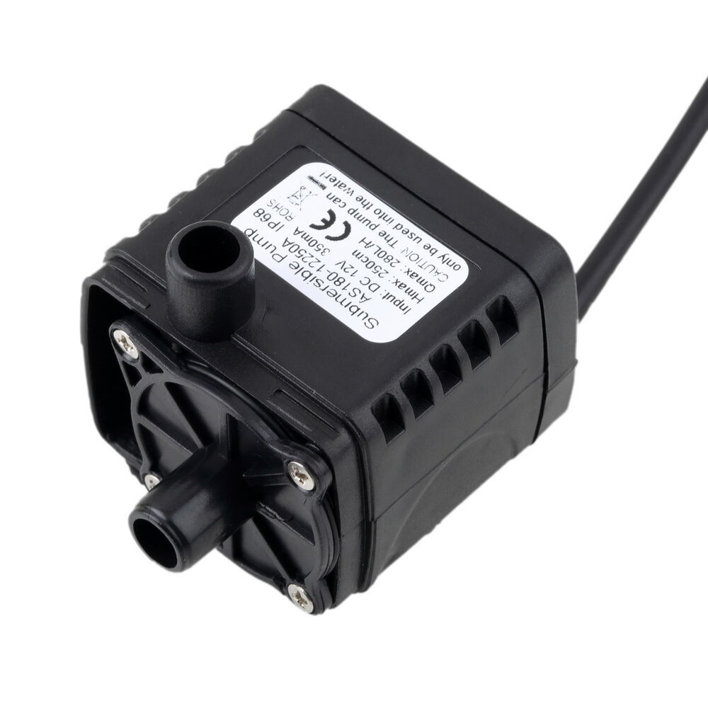 12v dc cpu cooling car brushless water oil pump waterproof for Waterproof dc motor 12v