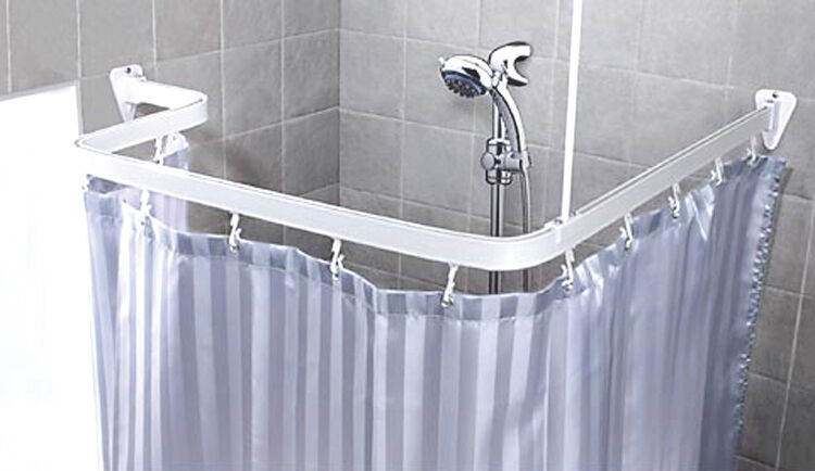 track chrome amp white fixed amp flexible over bath shower bathroom free standing bath shower curtain emphasize the