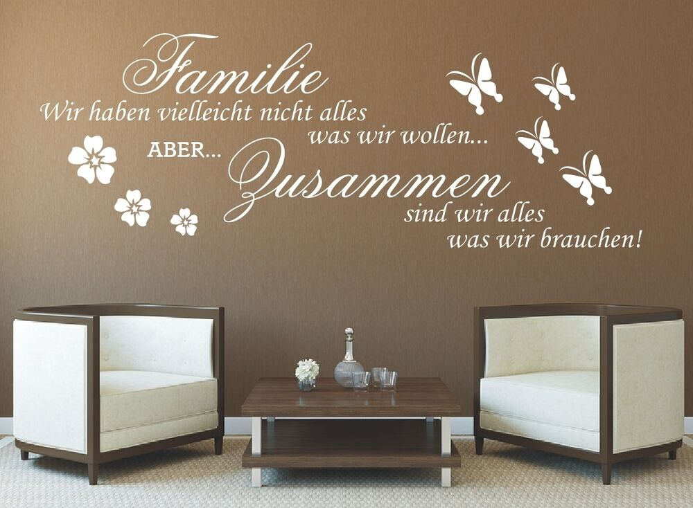 g317 spruch wandtattoo familie wir haben zusammen sticker. Black Bedroom Furniture Sets. Home Design Ideas