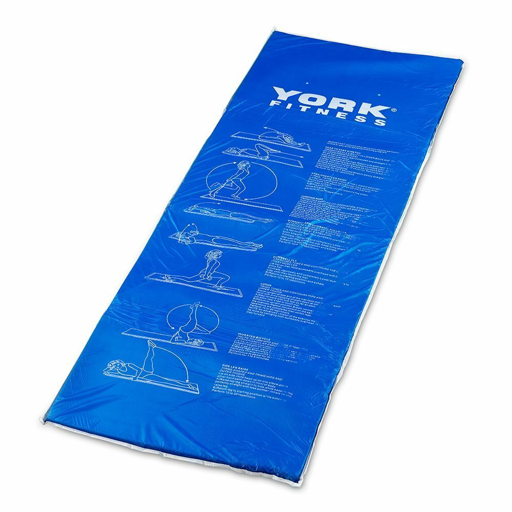 york padded exercise mat 20mm extra thick fitness yoga pilates gym workout ebay. Black Bedroom Furniture Sets. Home Design Ideas