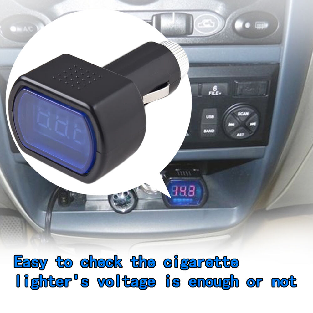 Car Battery Voltage Meter : Led display cigarette lighter electric voltage meter for