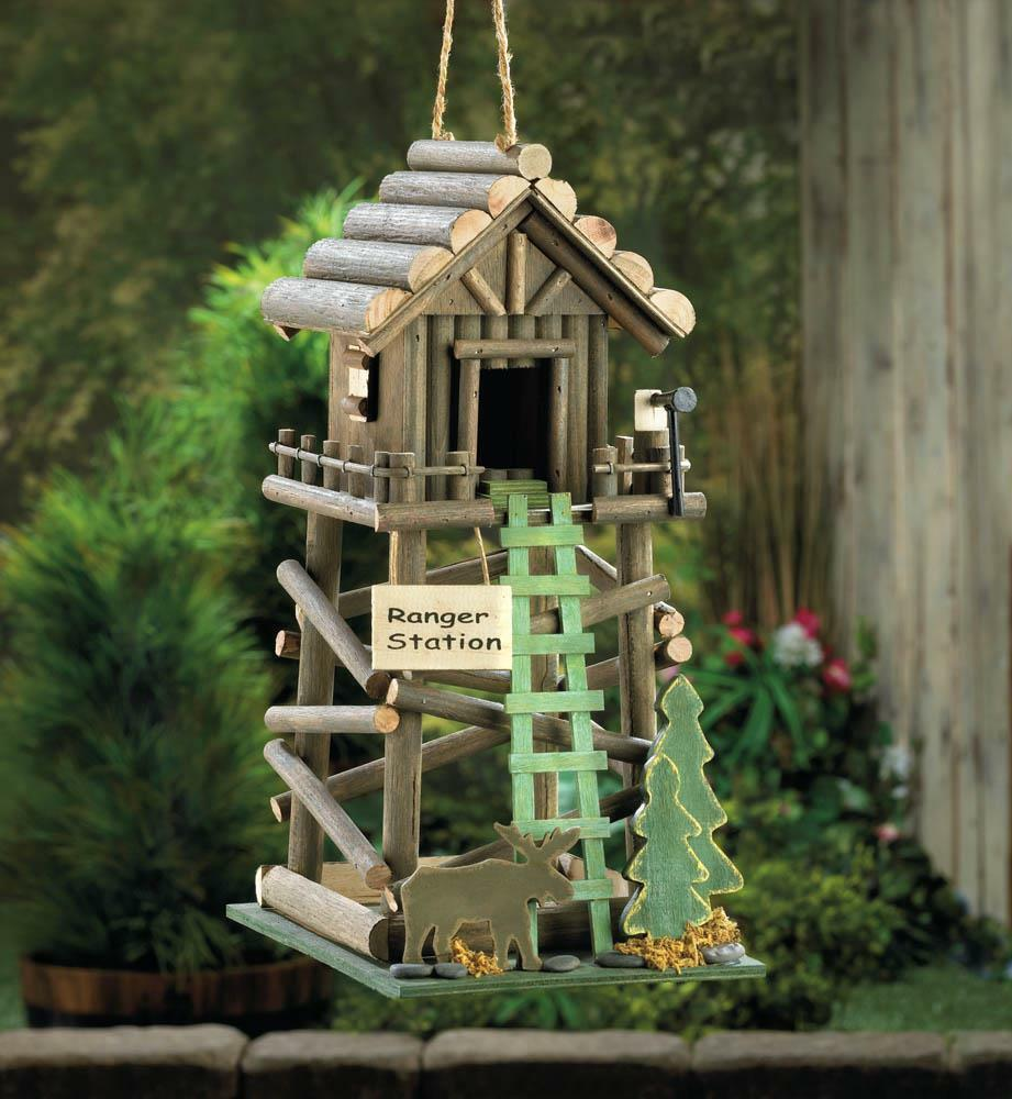 rustic log cabin birdhouses - photo #28