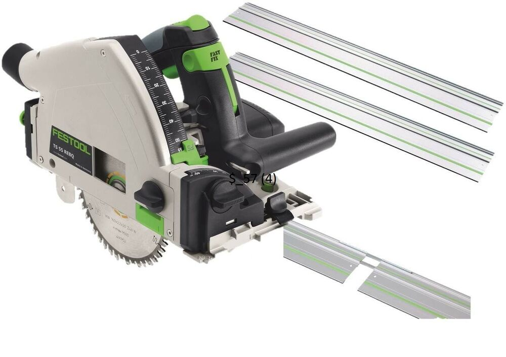 festool circular saw ts 55 rebq kit 2xguides connectors systainer blade 240v ebay. Black Bedroom Furniture Sets. Home Design Ideas