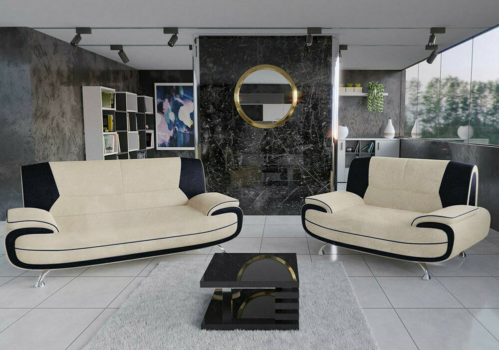 sofagarnitur polstergarnitur bayern 3 2 sofas sofa couch gro e farbauswahl ebay. Black Bedroom Furniture Sets. Home Design Ideas