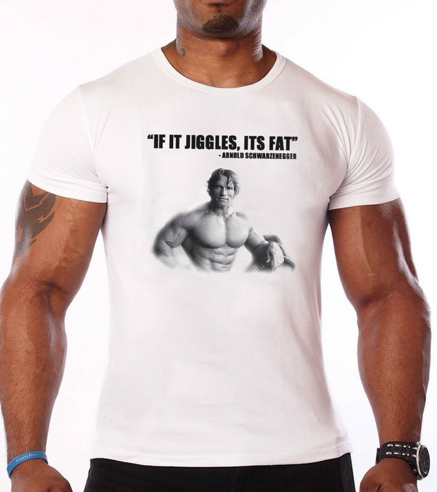 Arnold schwarzenegger t shirt gym bodybuilding for T shirts for gym workout