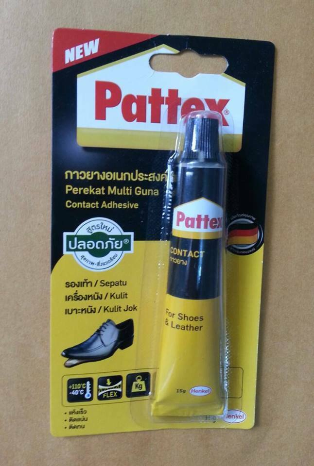 new contact adhesive pattex for shoes leather fast drying