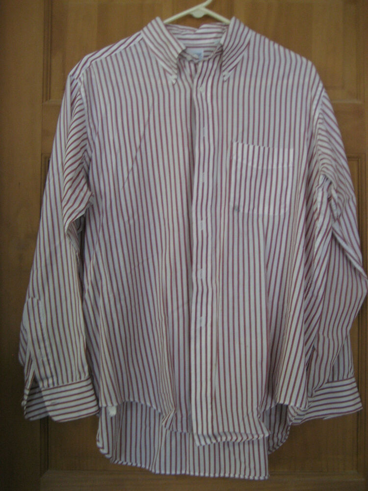 treats squire shop white and red striped button up shirt