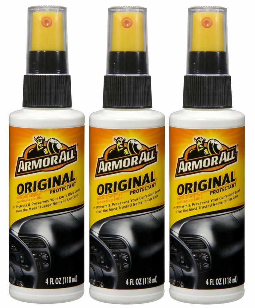 3 x armor all original protectant pump for car dashboard vinyl seats door panels ebay. Black Bedroom Furniture Sets. Home Design Ideas