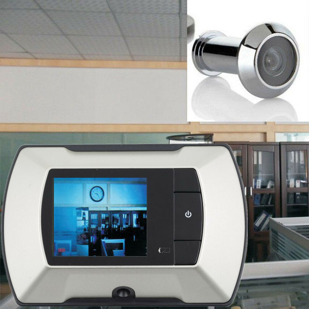 2 4 lcd visual monitor door peephole peep hole wireless for Door video camera
