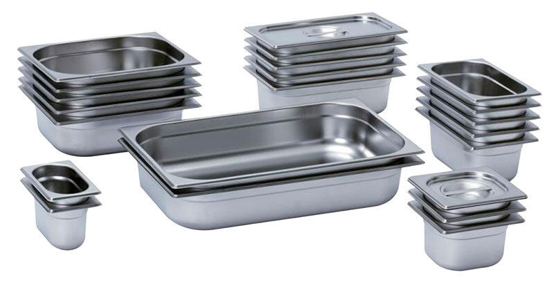 Industrial Food Container : Gastronorm containers gastro pans stainless steel