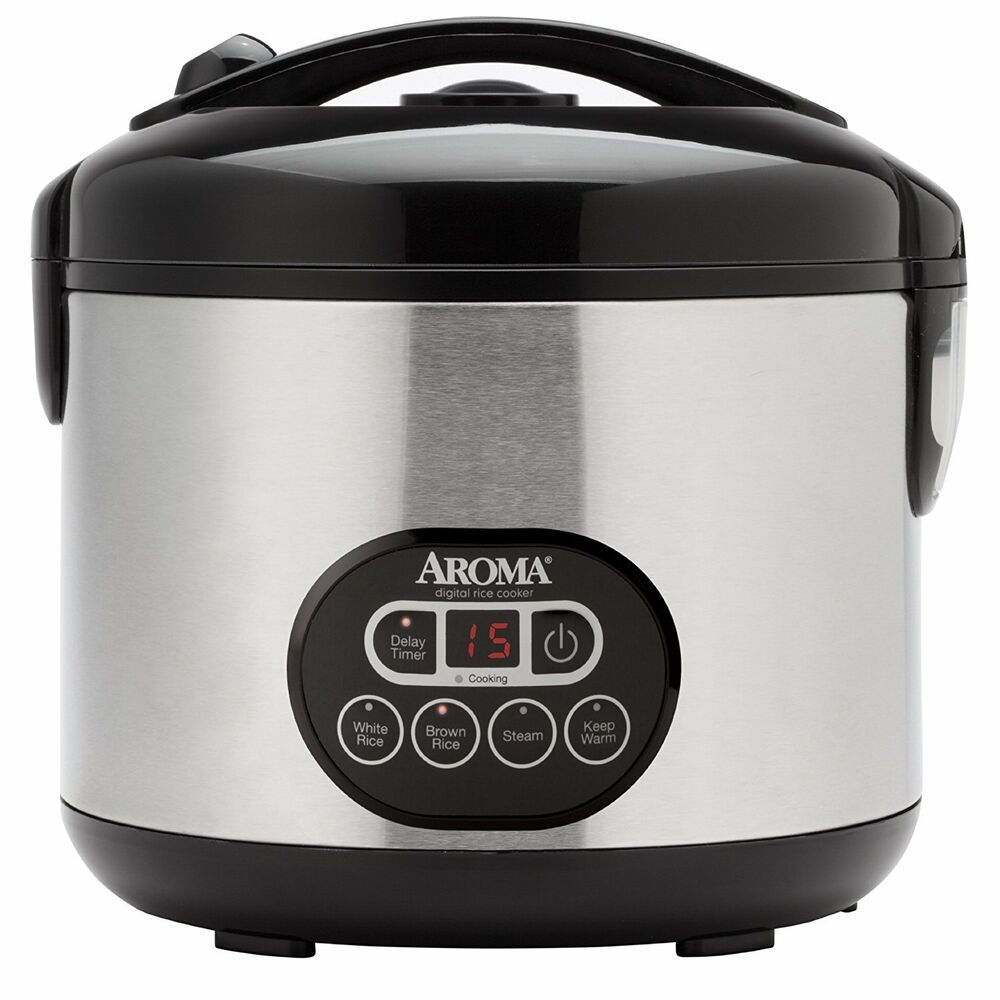 Aroma 12 Cup Black & Stainless Cool Touch Digital Rice