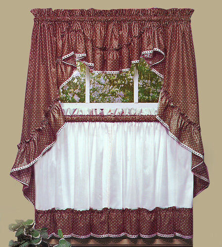 country kitchen valances new sturbridge ruffled kitchen curtains by cambridge 2922