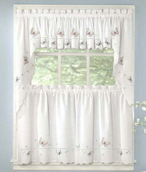New Monarch Butterfly Kitchen Tier Curtain Ebay
