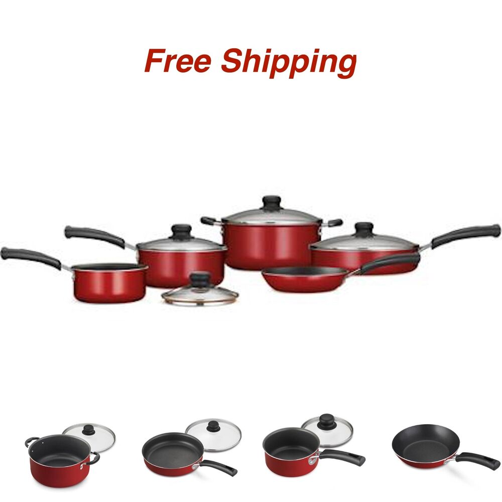9-Piece Essential Nonstick Cookware Set Pots And Pans