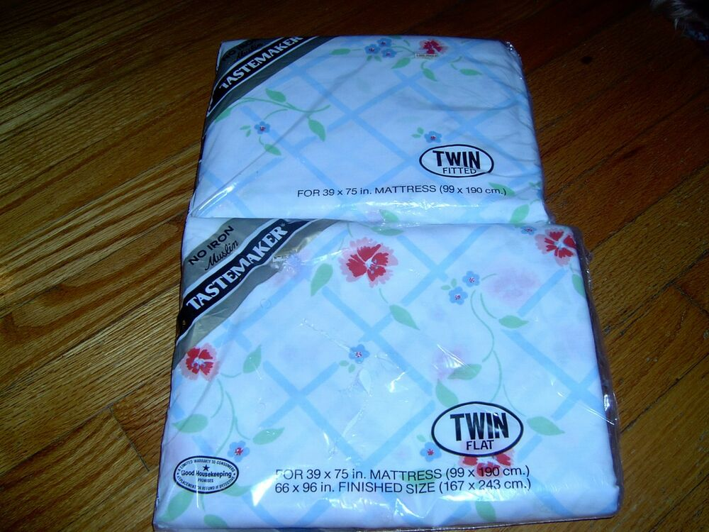 New In Package Tastemaker Twin Sheet Set 1 Flat Amp 1 Fitted