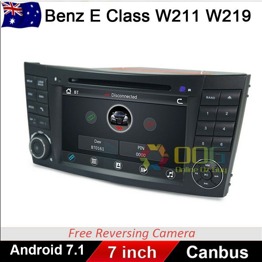 7 car dvd gps navigation stereo for mercedes benz e class. Black Bedroom Furniture Sets. Home Design Ideas